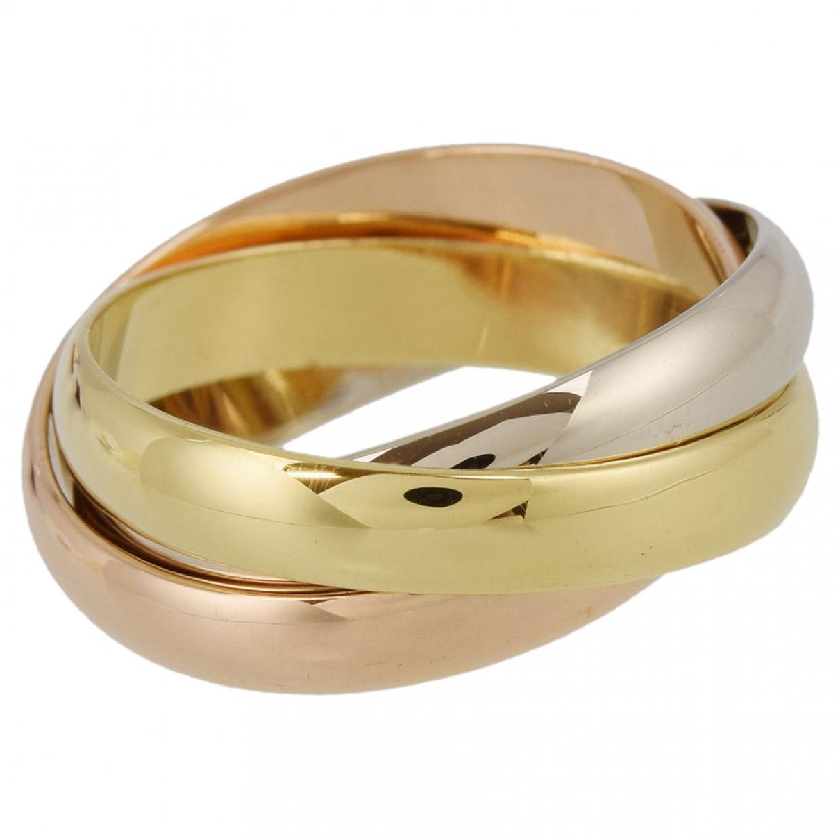 Cartier - Bague Trinity pour femme en or jaune - dore