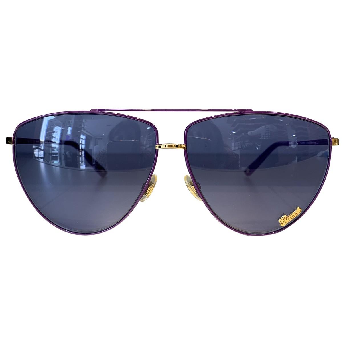 Gucci \N Purple Metal Sunglasses for Women \N