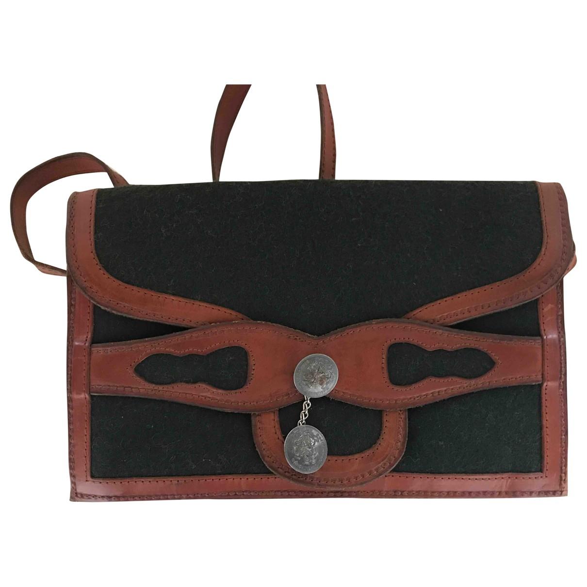 Ritz Saddler \N Handtasche in  Braun Leder