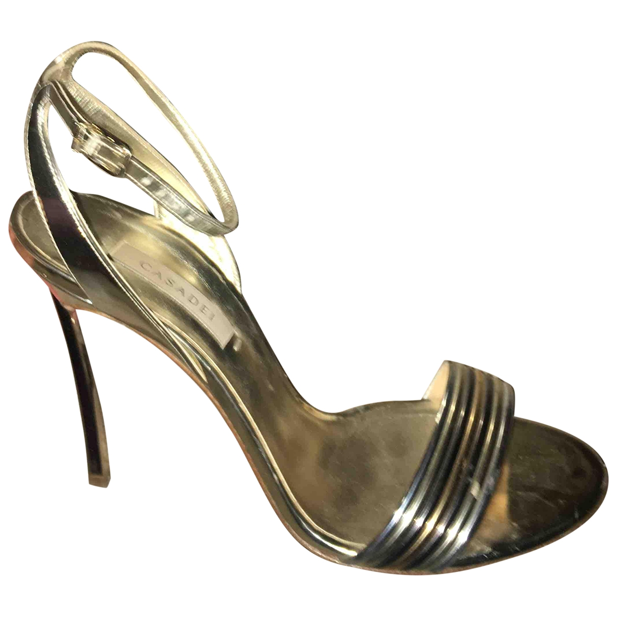 Casadei - Sandales   pour femme en cuir - argente