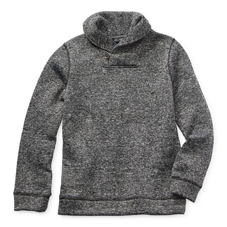 Hollywood Big Boys Long Sleeve Pullover Sweater, Small (8) , Gray