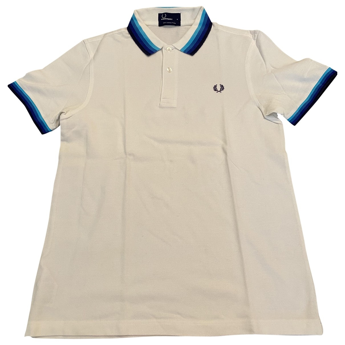 Fred Perry - Polos   pour homme en coton - blanc