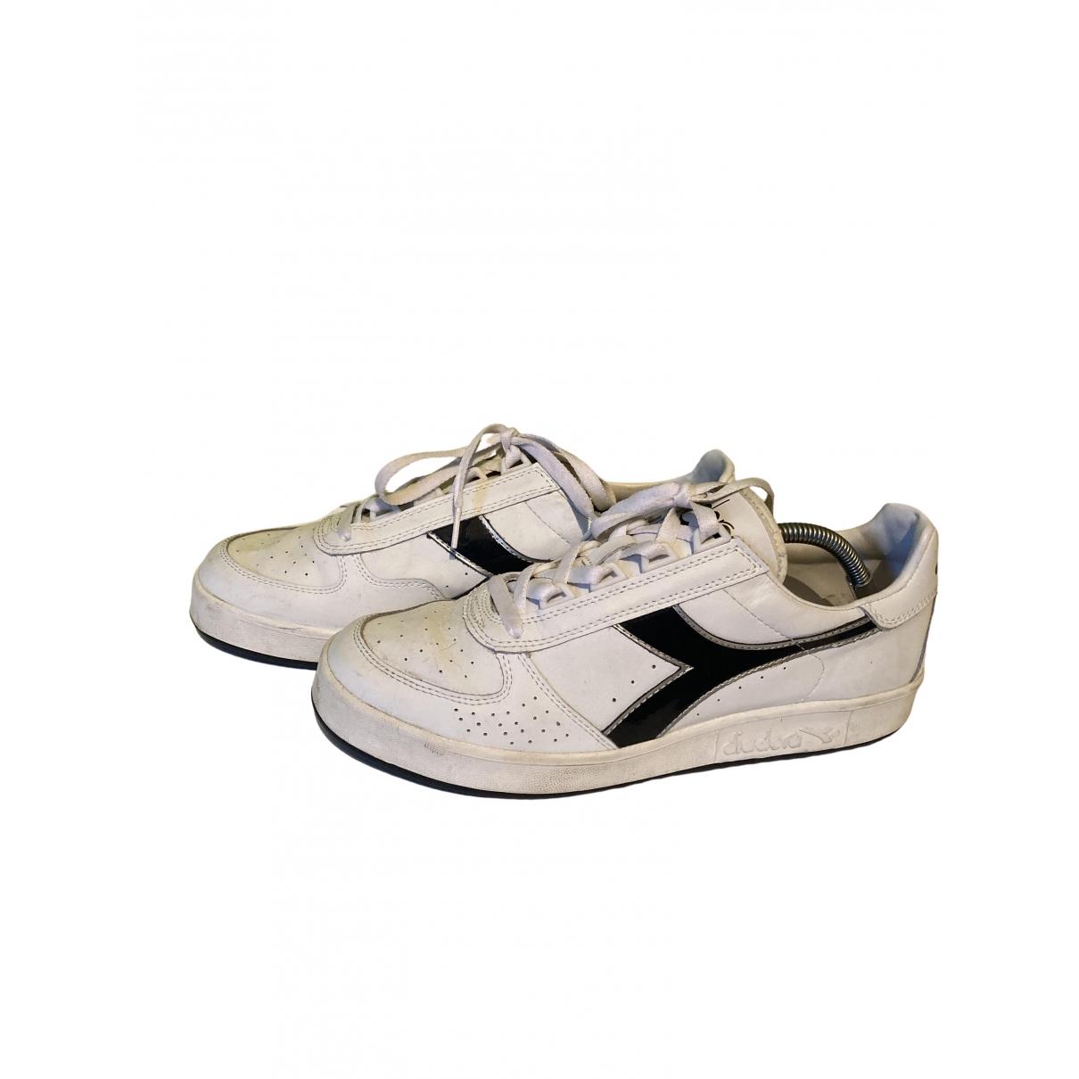 Diadora Heritage \N Sneakers in  Weiss Leder