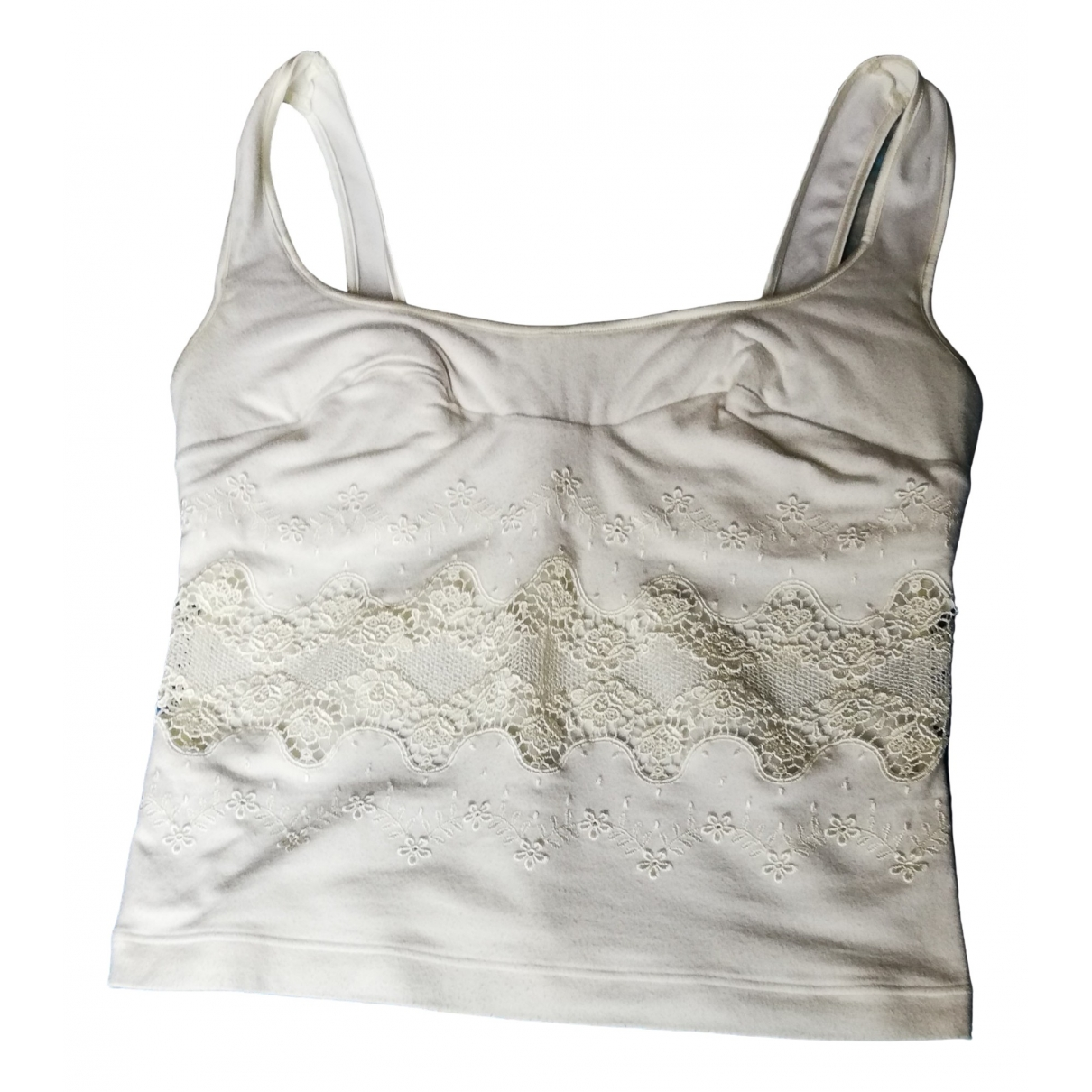 La Perla - Top   pour femme en coton - blanc