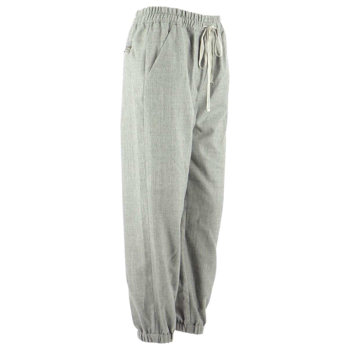 3.1 Phillip Lim \N Grey Wool Trousers for Women 2