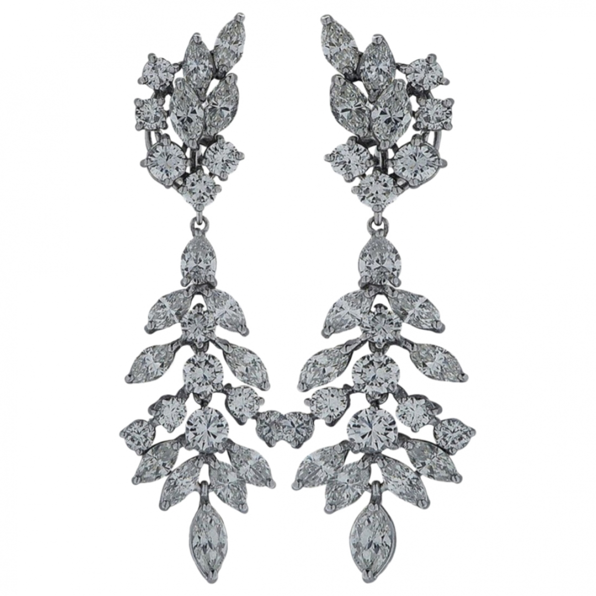 - Boucles d'oreilles   pour femme en or blanc - blanc