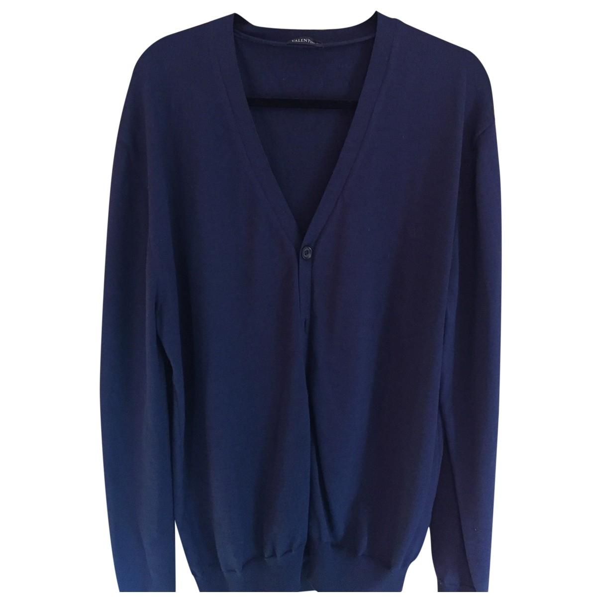 Valentino Garavani \N Pullover.Westen.Sweatshirts  in  Blau Wolle