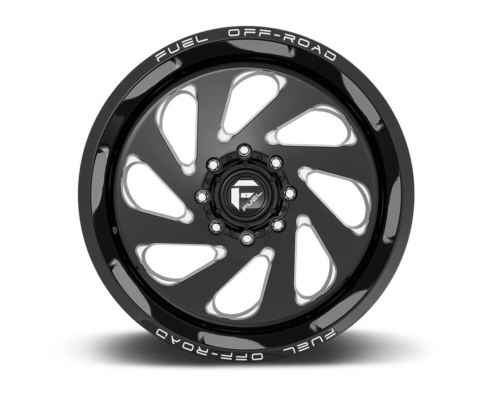 Fuel D637 Vortex Gloss Black & Milled 1-Piece Cast Wheel 20x10 8x165.1 -18mm