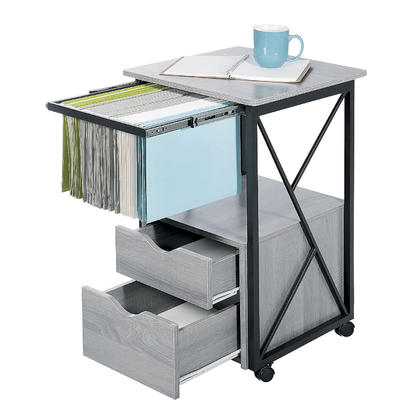 Safco® Mood™ Office Storage Pedestal with 4 Swivel Casters, 17.8