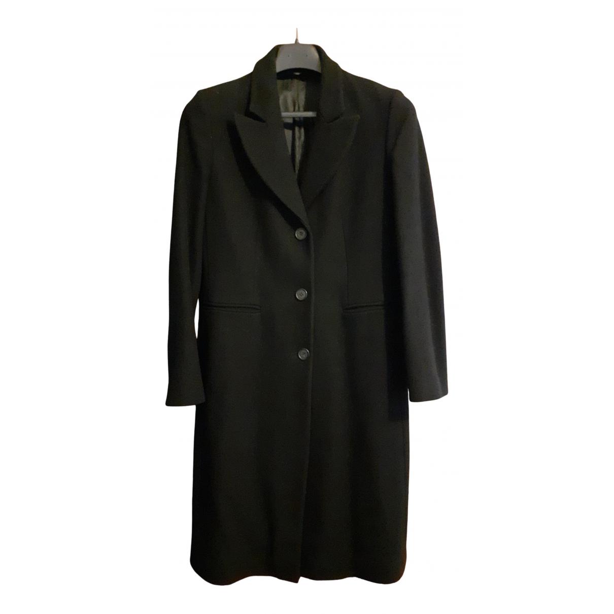 Stefanel - Manteau   pour femme en laine - noir