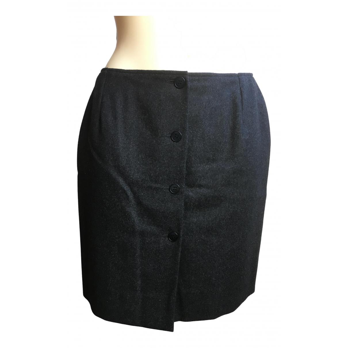 Agnès B. N Anthracite Wool skirt for Women 40 FR