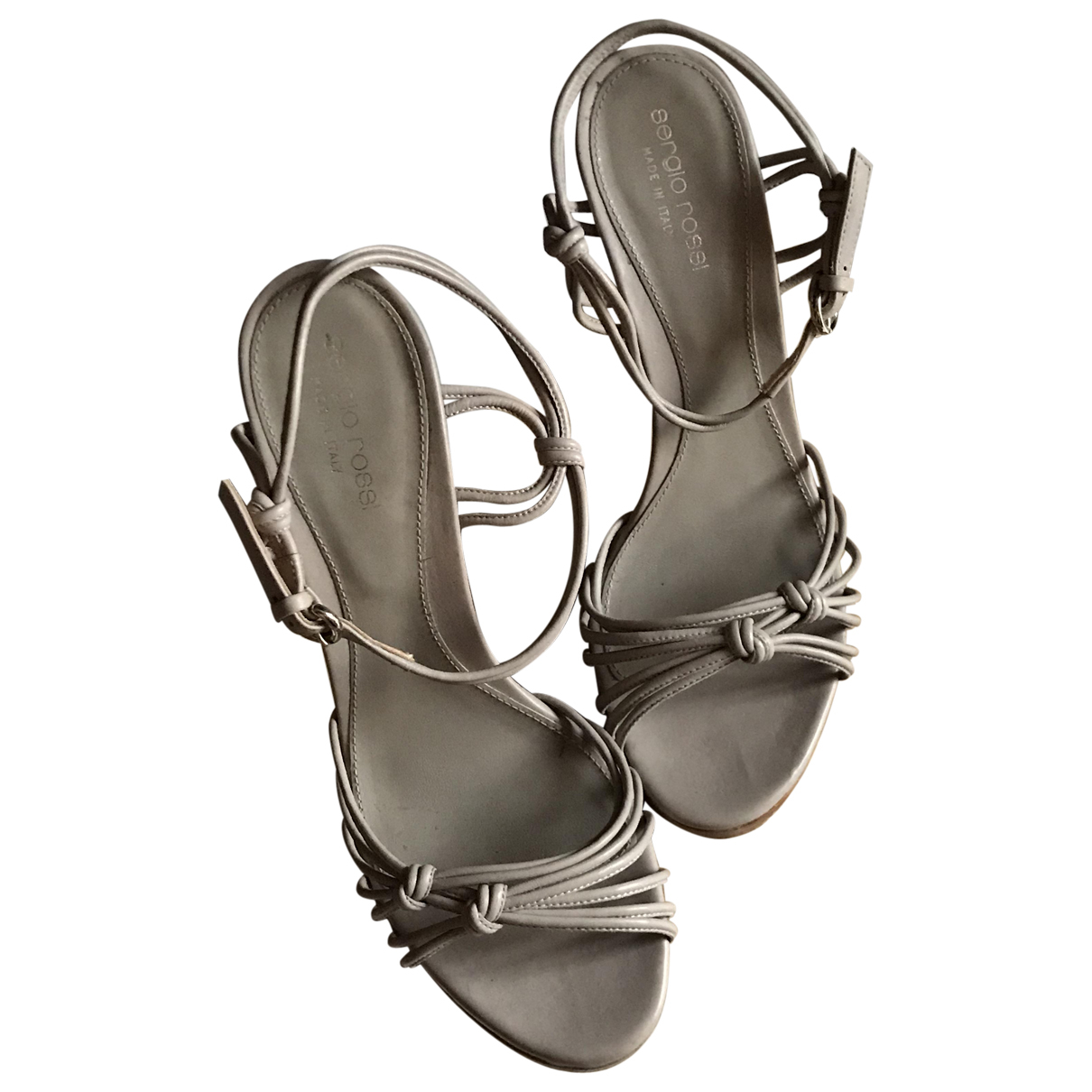 Sergio Rossi \N Grey Leather Sandals for Women 38.5 EU