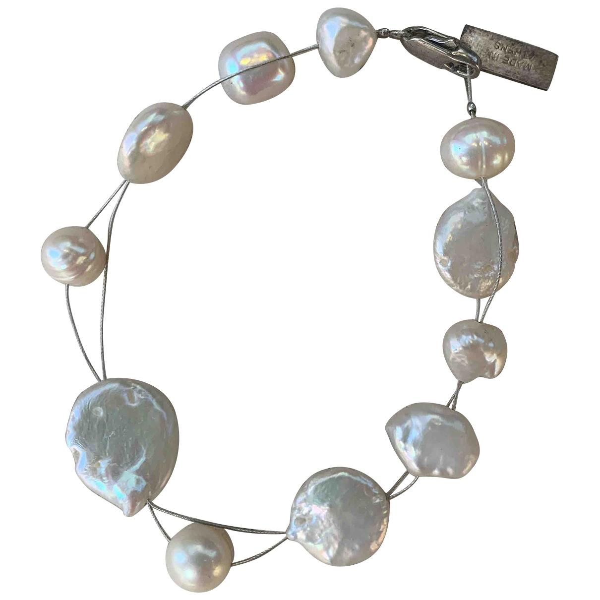 - Bracelet   pour femme en perles - ecru