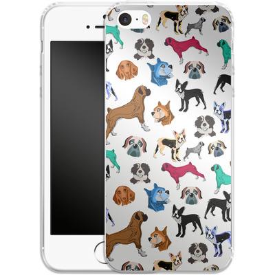 Apple iPhone SE Silikon Handyhuelle - Puppy Love von Mukta Lata Barua