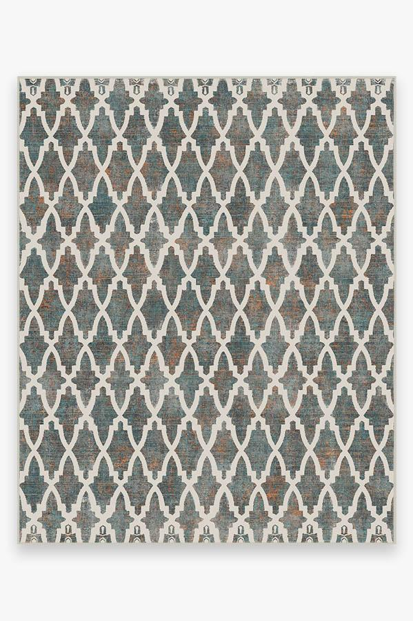 Washable Rug Cover | Soraya Trellis Multicolor Rug | Stain-Resistant | Ruggable | 8'x10'