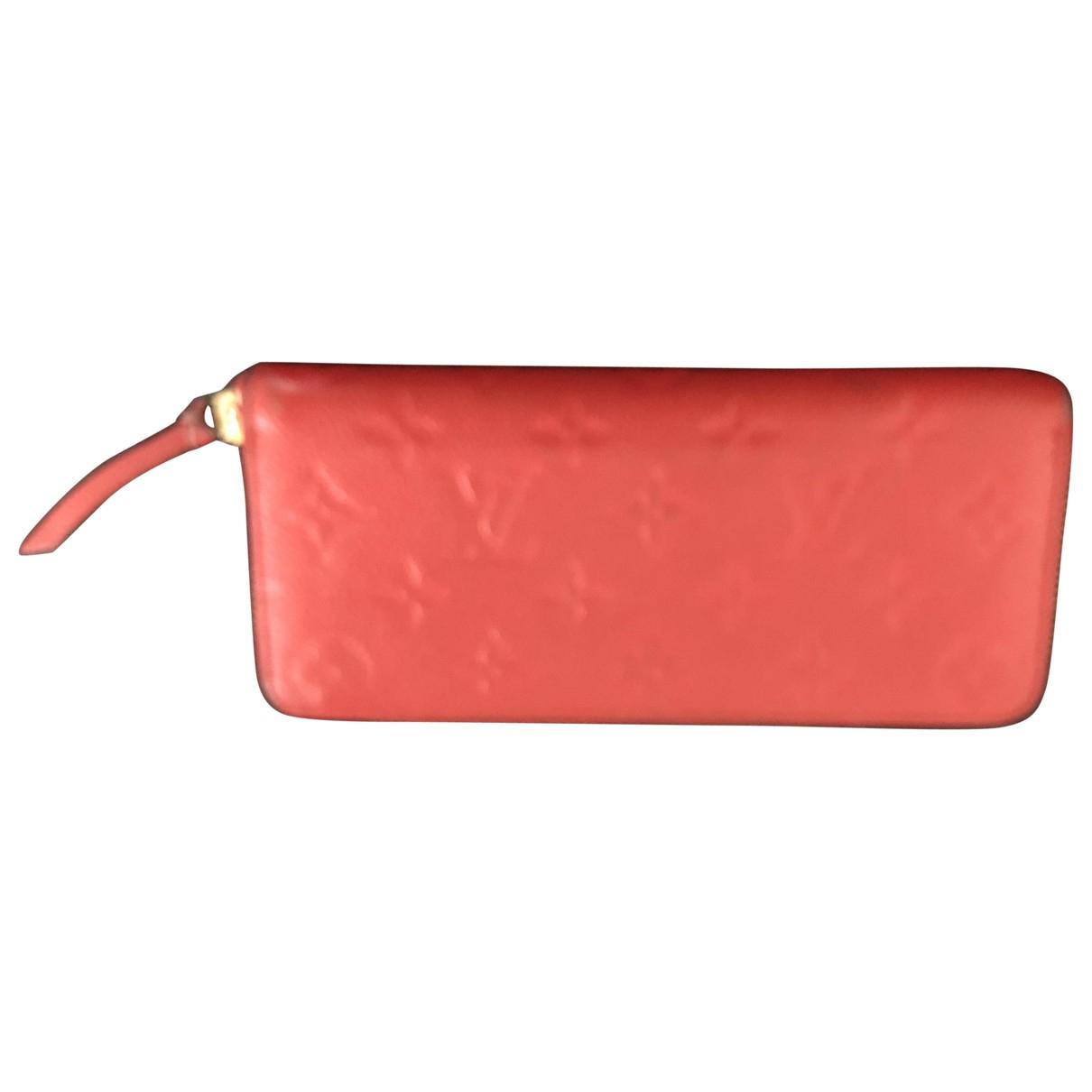 Louis Vuitton - Portefeuille Clemence pour femme en cuir - rouge