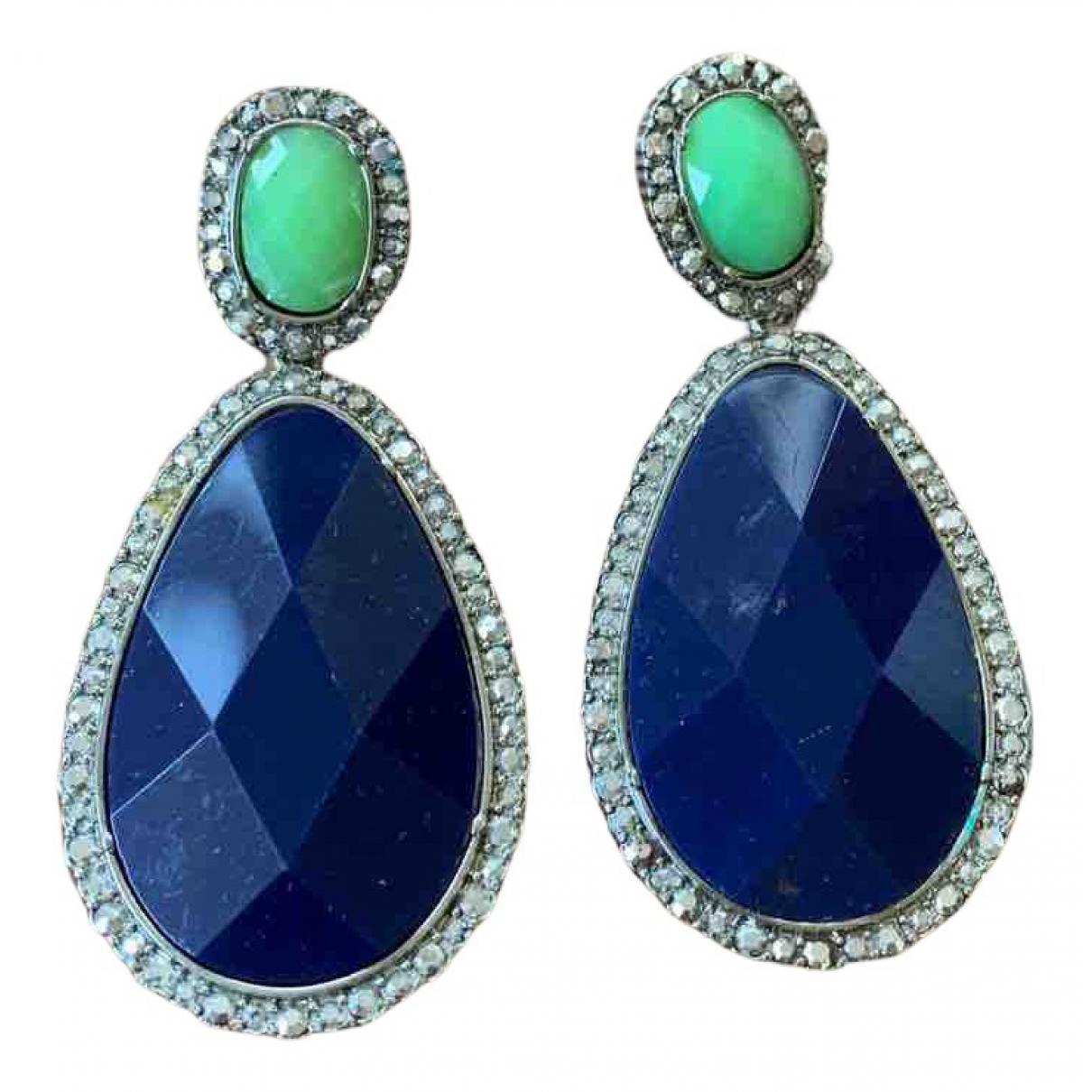 Zara - Boucles doreilles   pour femme en metal - bleu