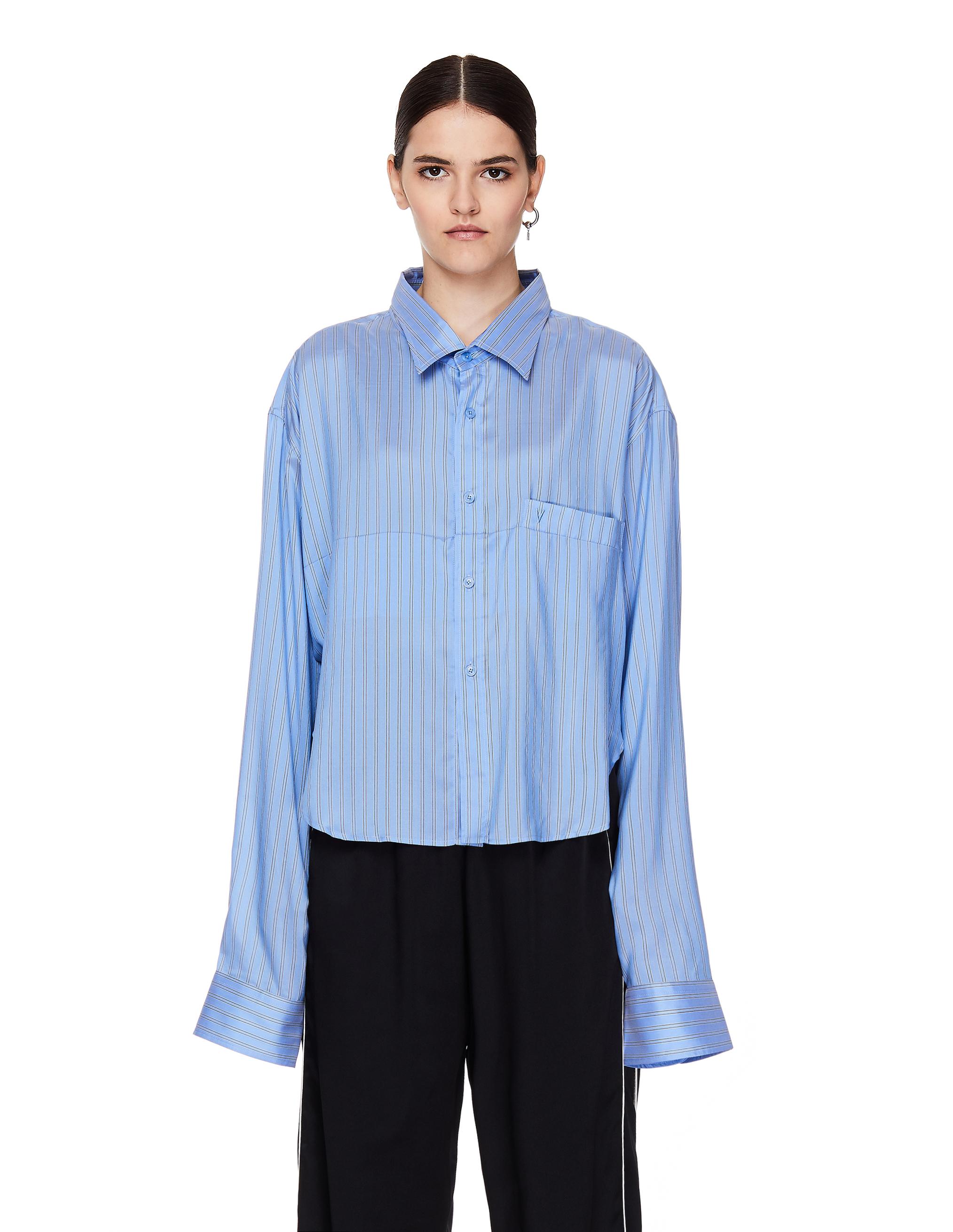 Vetements Blue Silk Shirt