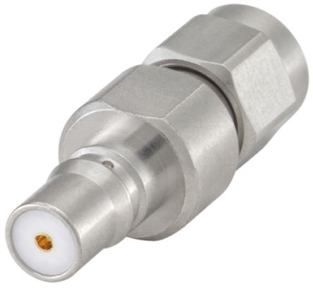 Rosenberger Straight 50Ω RF Adapter QMA Socket to SMA Plug 18GHz