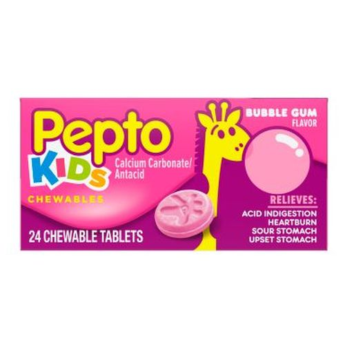Pepto-Bismol Children Chewable Tablets Bubble Gum Flavor 24 tabs by Pepto-Bismol