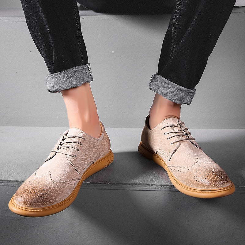 Ericdress Nubuck Leather Low-Cut Upper Men's Work Shoes