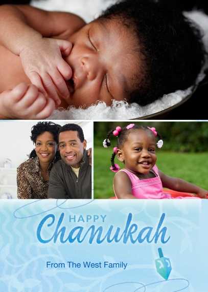 Hanukkah Photo Cards 5x7 Cards, Premium Cardstock 120lb with Rounded Corners, Card & Stationery -Happy Chanukah