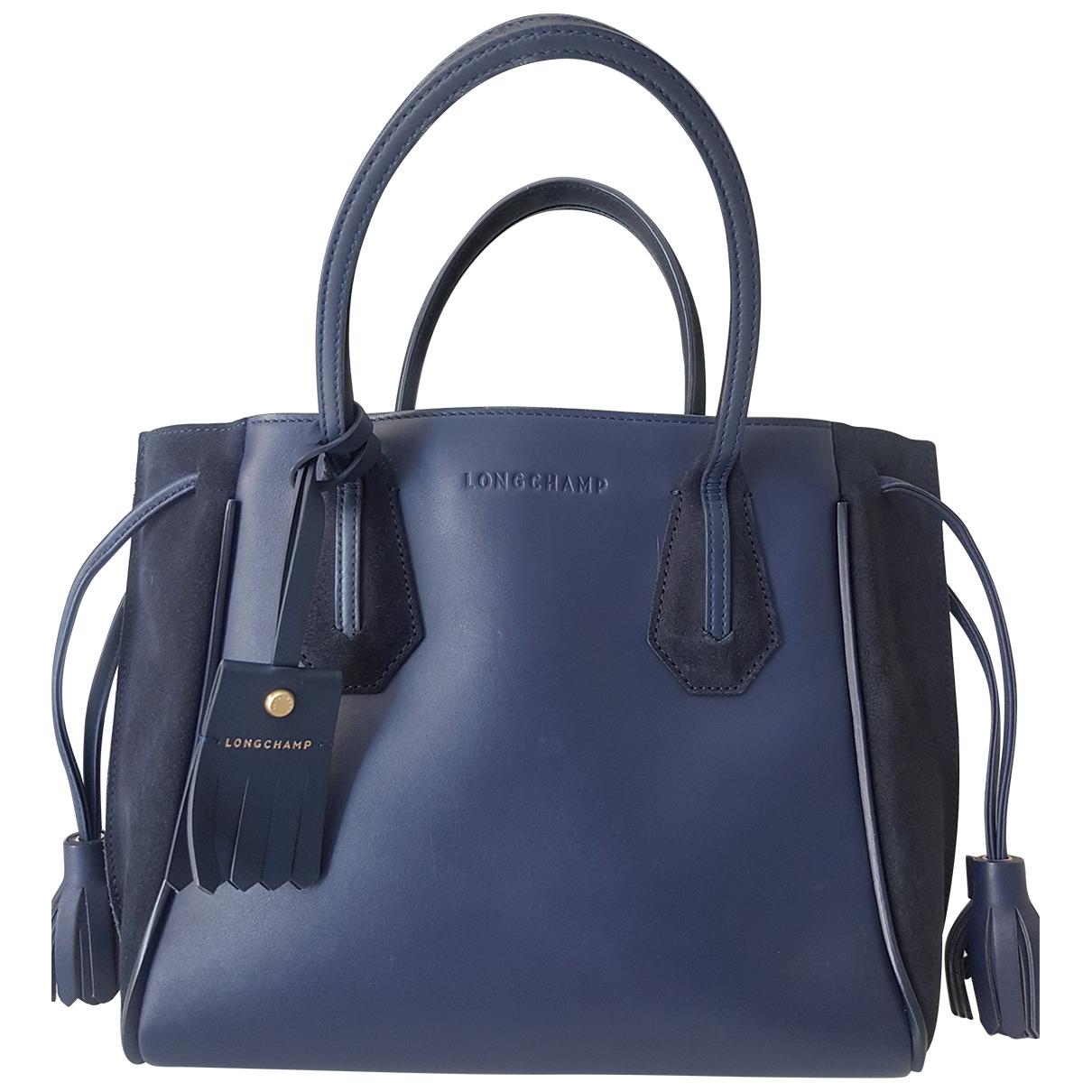 Longchamp - Sac a main Penelope  pour femme en cuir - bleu
