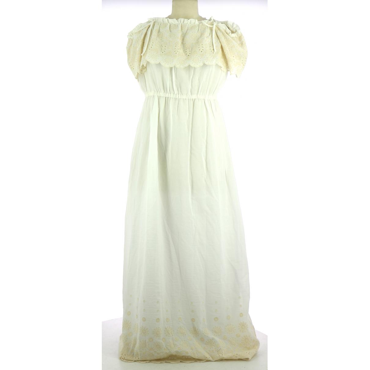Comptoir Des Cotonniers \N White Cotton dress for Women 42 FR