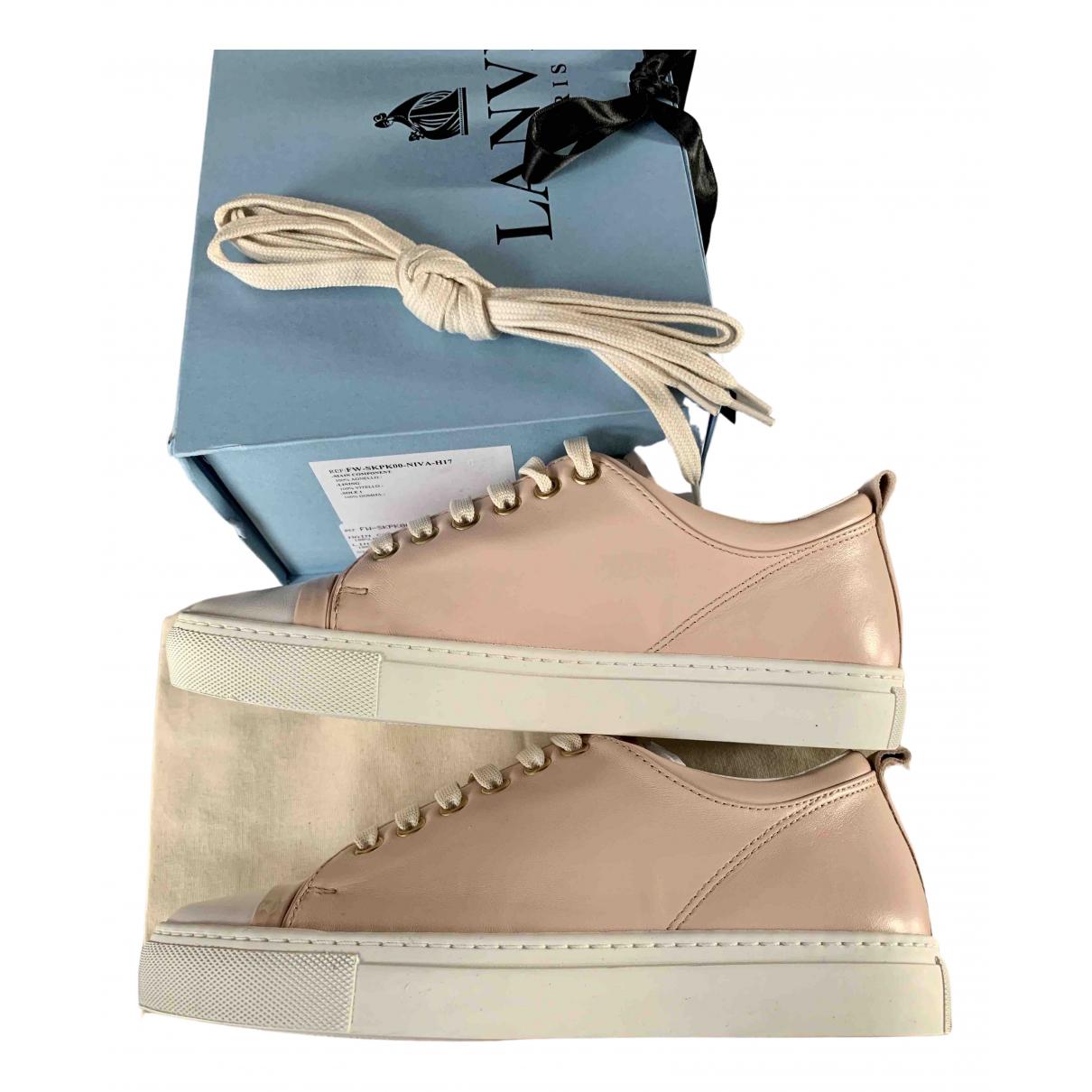 Lanvin \N Sneakers in  Rosa Leder