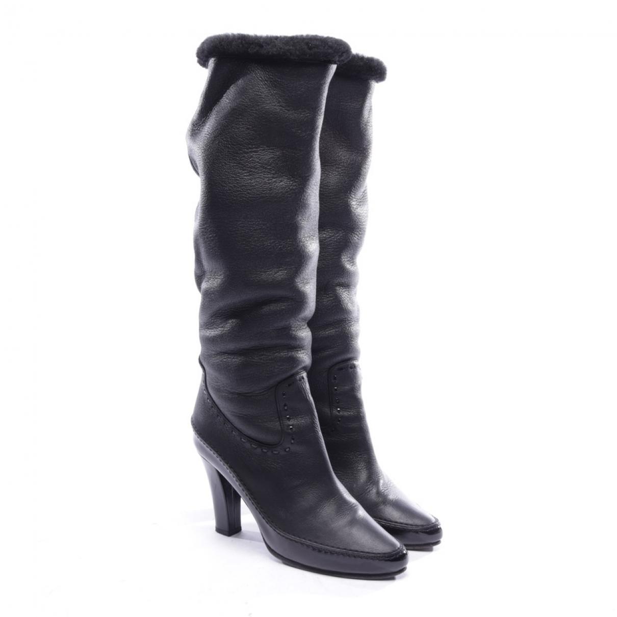 Bottega Veneta - Bottes   pour femme en cuir - noir