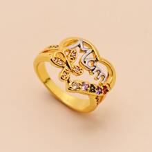 Rhinestone Decor Butterfly Decor Ring