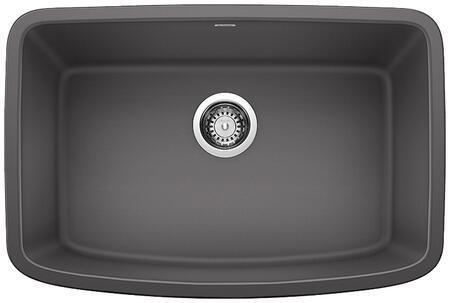 Valea 442548 Silgranit Undermount Single Sink Bowl  in