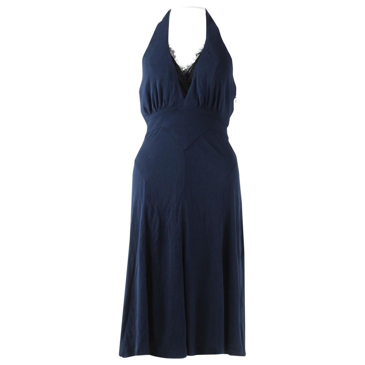 Diane Von Furstenberg \N Kleid in  Marine Viskose