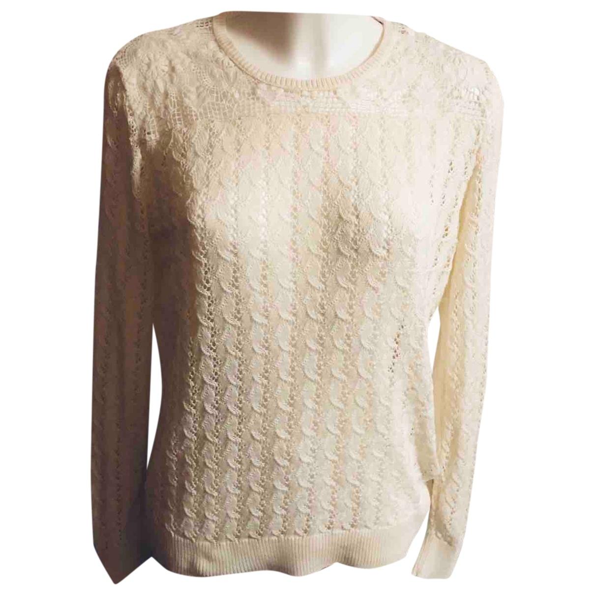 The Kooples \N Ecru Cotton Knitwear for Women 38 FR