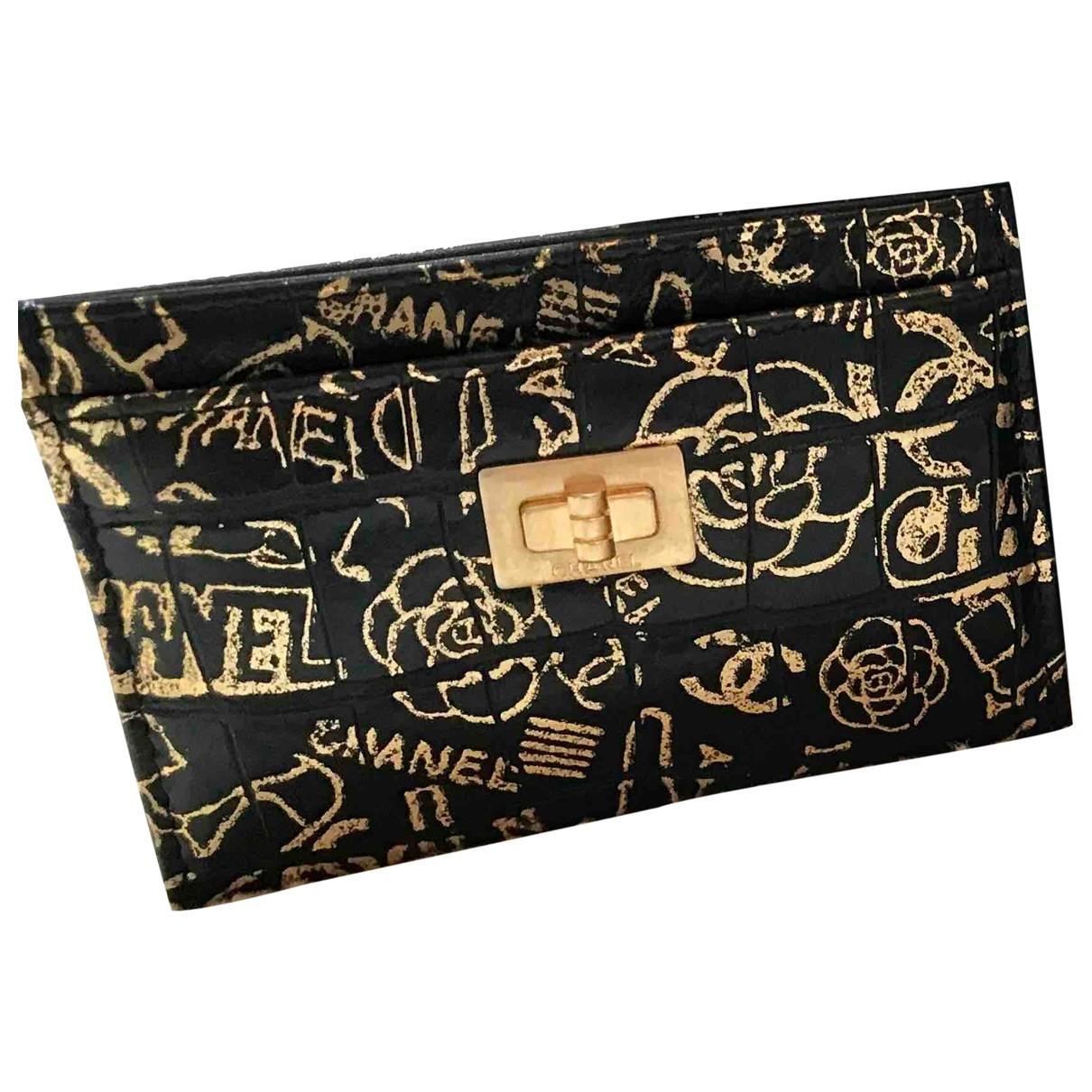 Chanel 2.55 Kleinlederwaren in  Schwarz Leder