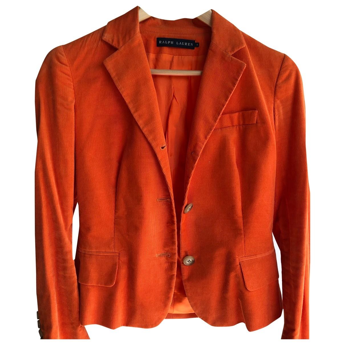 Ralph Lauren - Veste   pour femme en coton - orange