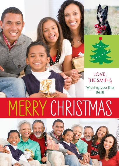 Christmas Photo Cards Flat Matte Photo Paper Cards with Envelopes, 5x7, Card & Stationery -Preppy Fun Christmas by Posh Paper