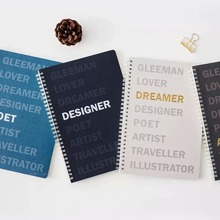 1pack Letter Graphic Cover Random Notebook