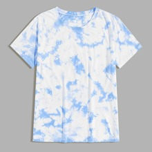 Men Tie Dye Round Neck Tee