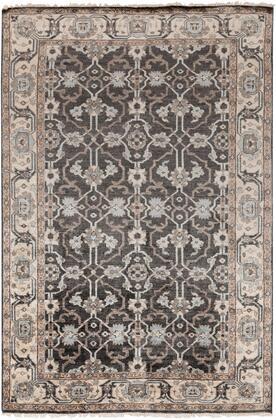 Theodora THO-3000 10' x 14' Rectangle Traditional Rugs in Black  Medium Gray  Pale Blue  Khaki