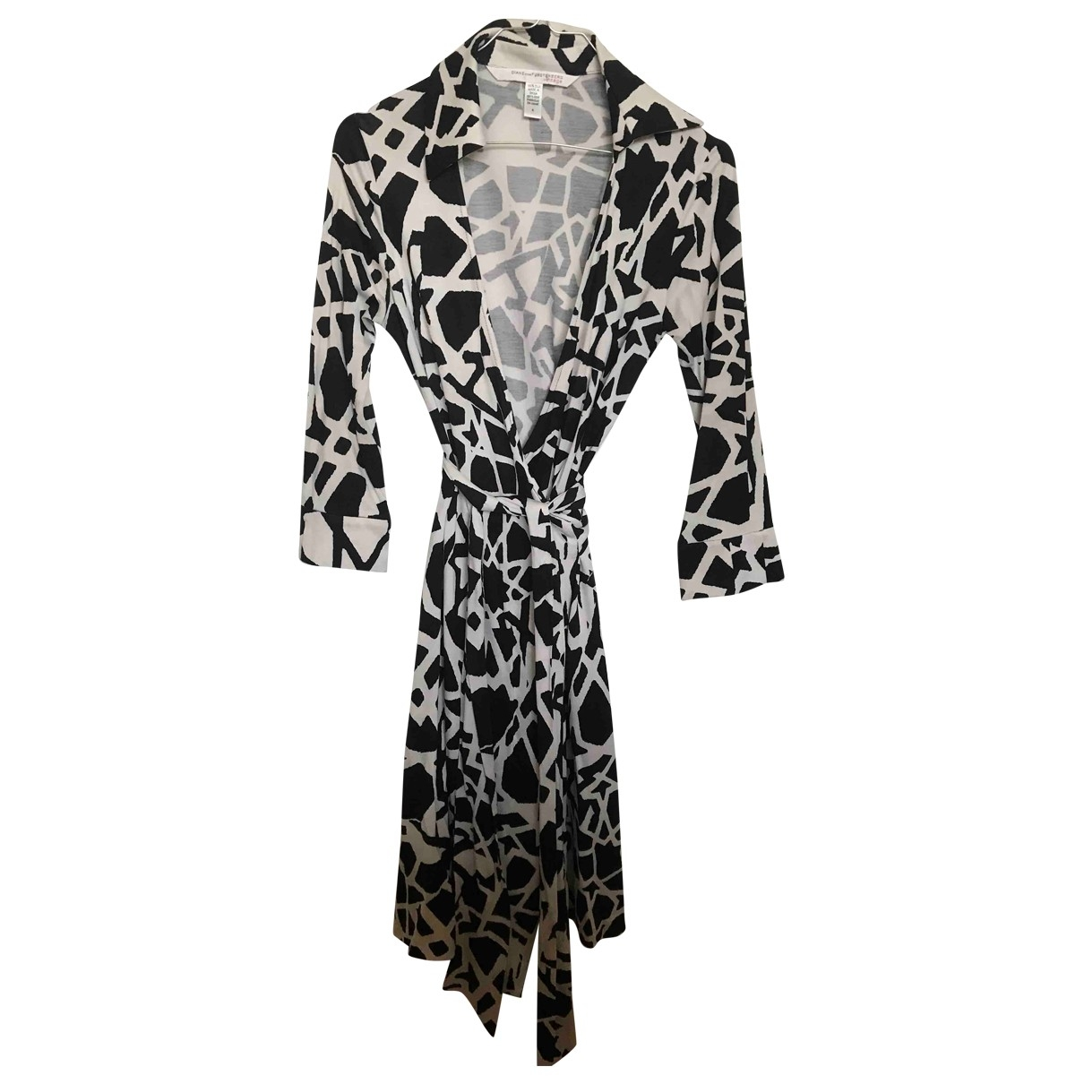 Diane Von Furstenberg \N Kleid in  Schwarz Seide