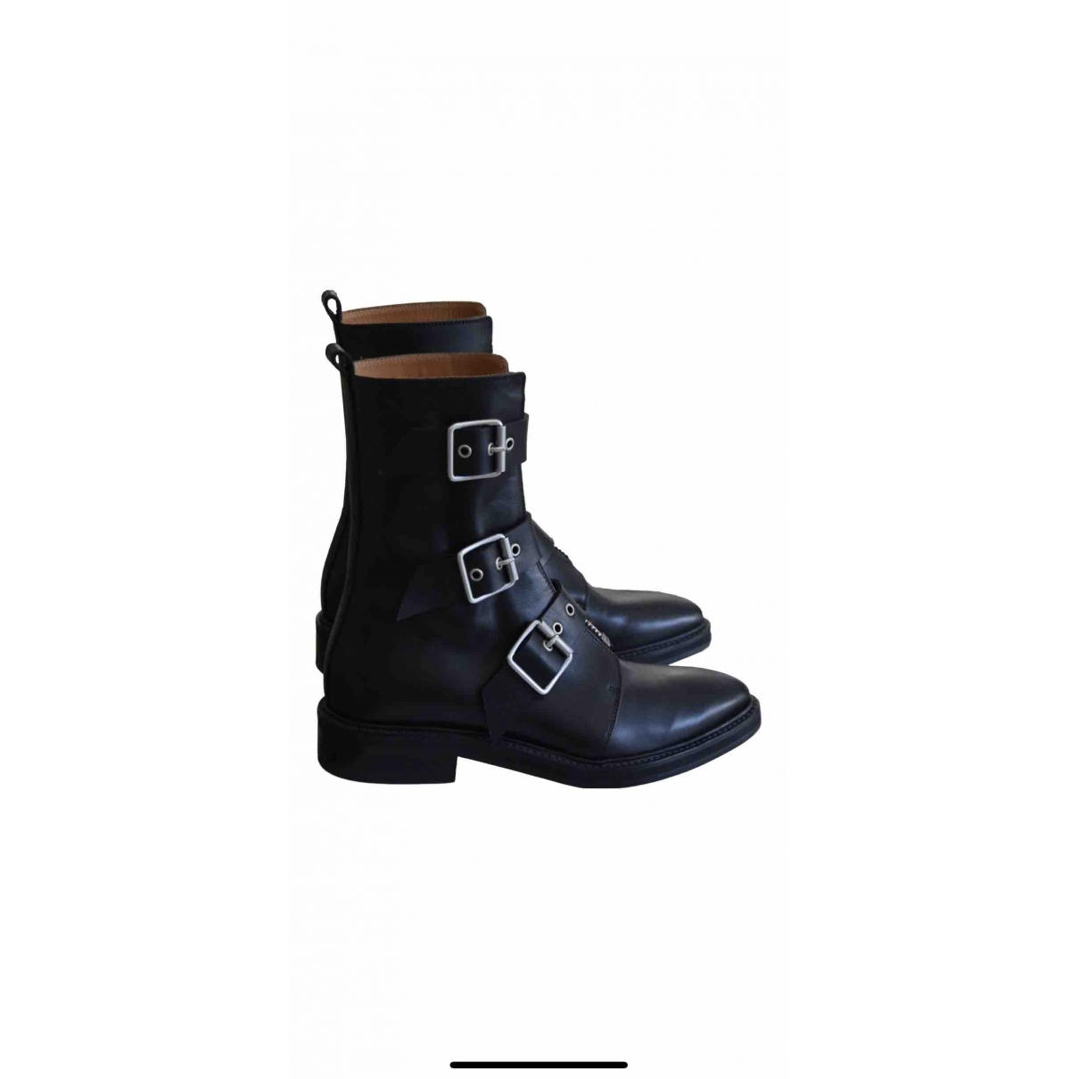 Damir Doma \N Black Leather Ankle boots for Women 36 EU