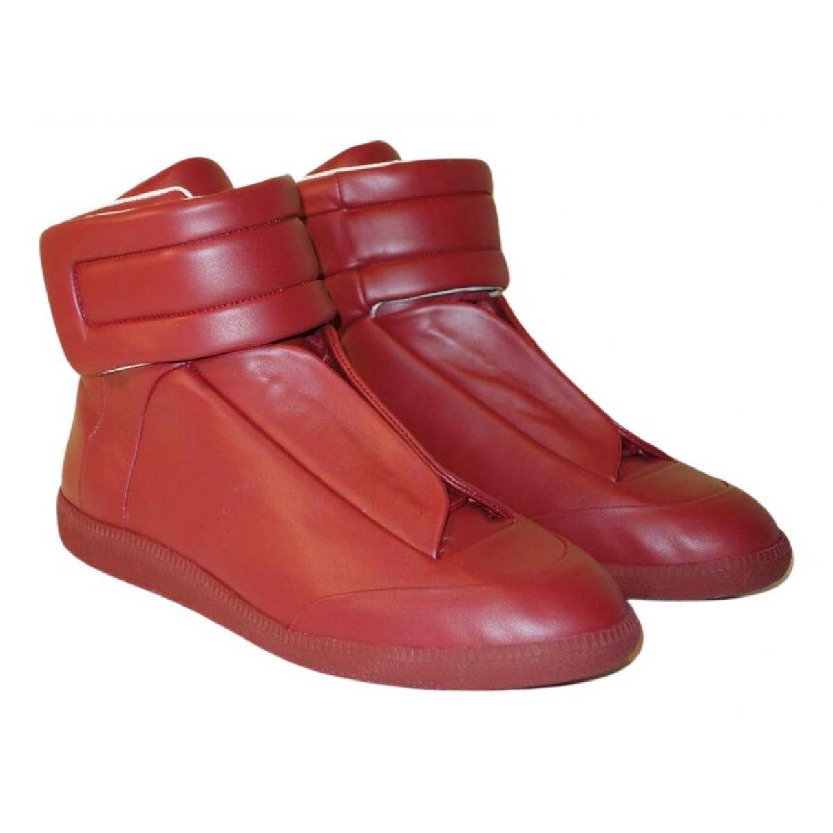 Maison Martin Margiela Future Sneakers in  Rot Leder