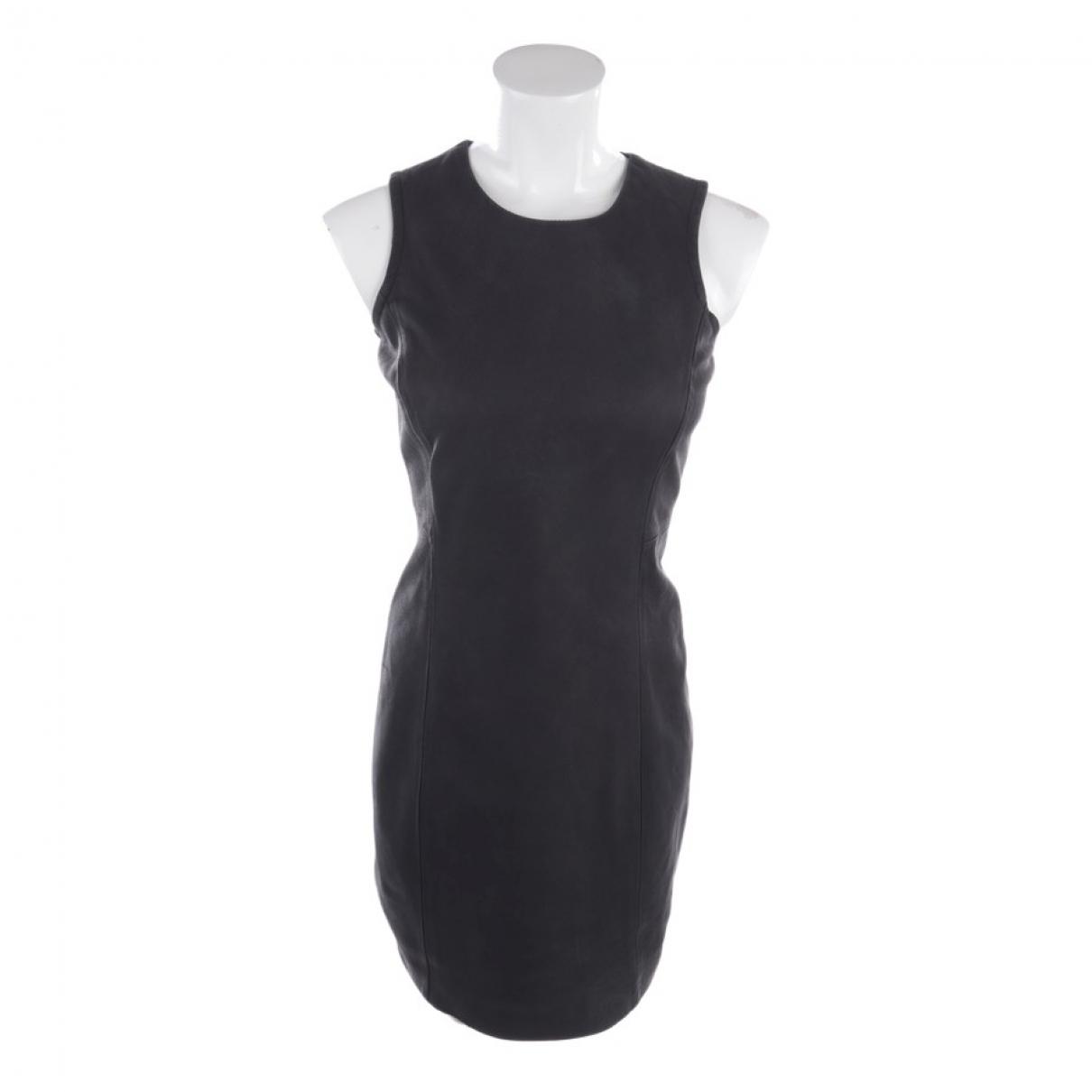 Theory - Robe   pour femme en cuir - noir