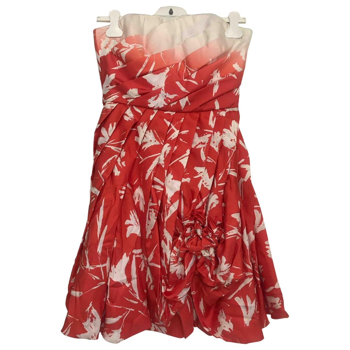 Blumarine \N Orange Silk dress for Women 42 IT
