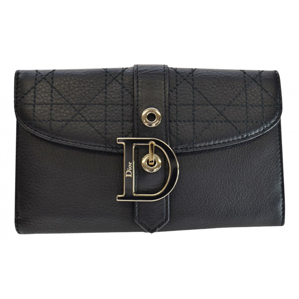 Dior \N Portemonnaie in  Schwarz Leder