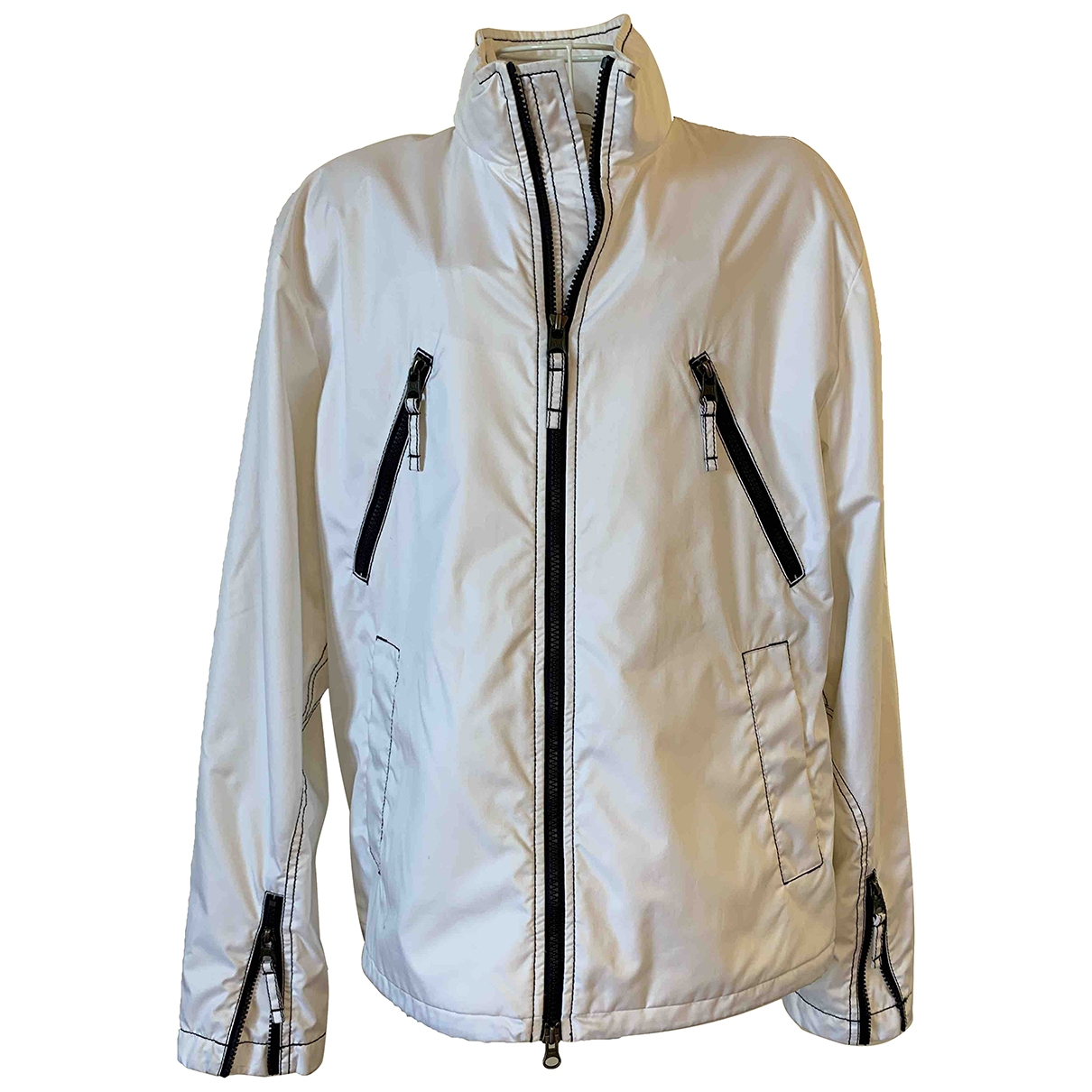 Armani Jeans \N Jacke in  Weiss Polyester