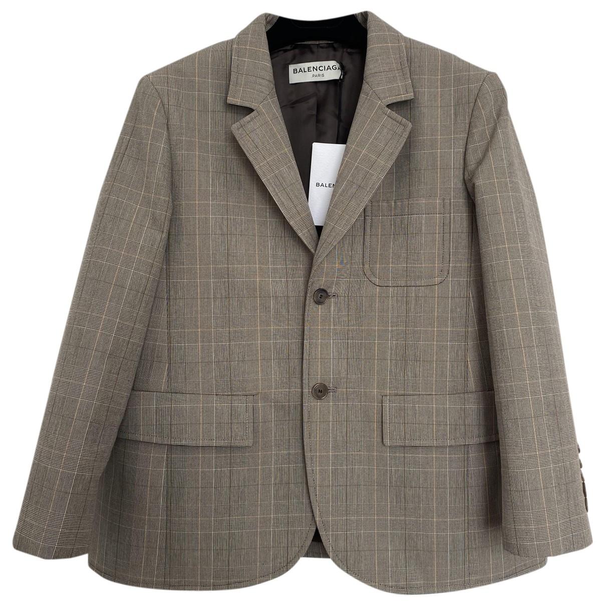 Balenciaga - Veste   pour femme en coton - beige
