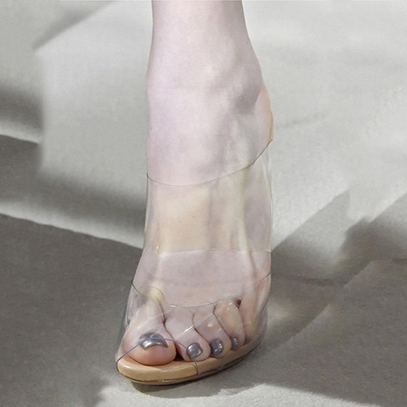 Ericdress Slip-On Stiletto Heel Open Toe Casual Sandals
