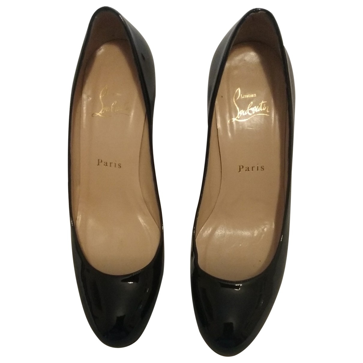 Christian Louboutin Simple pump Black Patent leather Heels for Women 38 EU